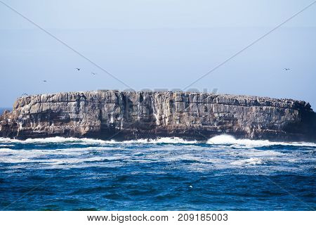 Rock Formation On The Pacific Coast