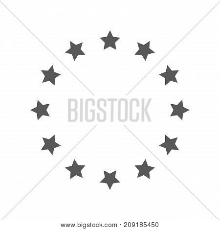 European Union icon. Vector simple illustration of European Union icon isolated on white background
