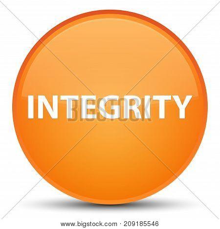 Integrity Special Orange Round Button
