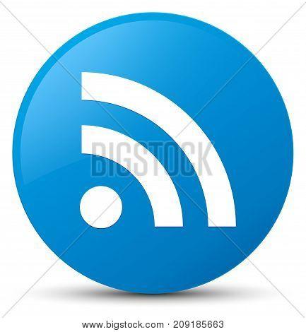 Rss Icon Cyan Blue Round Button