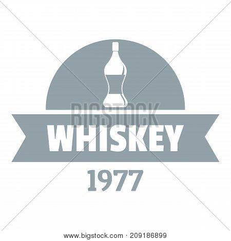 Bottle whiskey logo. Simple illustration of bottle whiskey vector logo for web