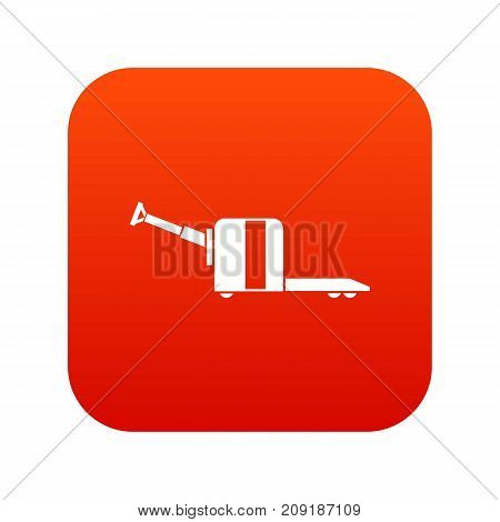 Cart on wheels icon digital red for any design isolated on white vector illustration