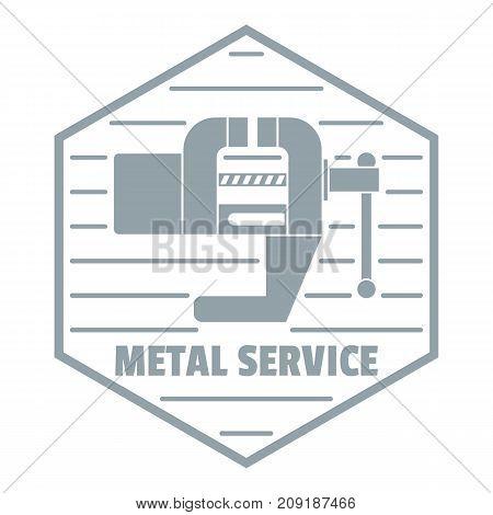 Vise logo. Vintage illustration of vise vector logo for web