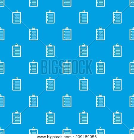 To do list pattern repeat seamless in blue color for any design. Vector geometric illustration
