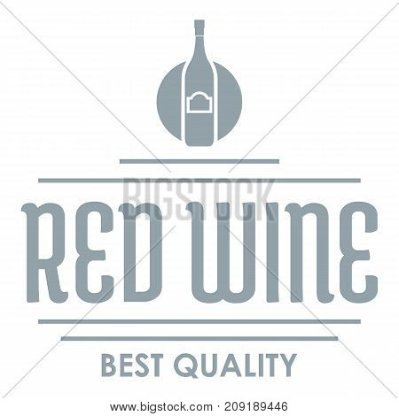 Red wine logo. Simple illustration of red wine vector logo for web