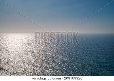 Blue Atlantic Ocean Clear Sky Sunny Day.