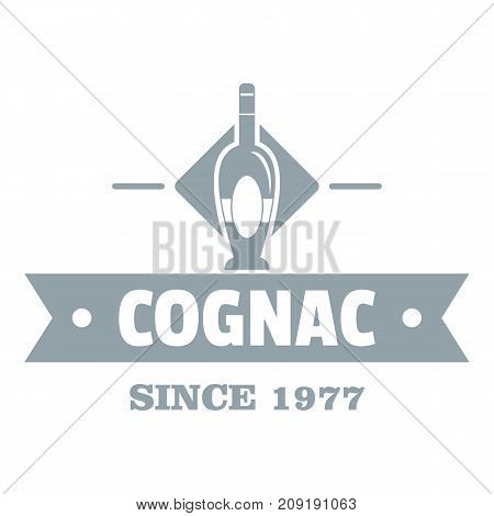 Bottle cognac logo. Simple illustration of bottle cognac vector logo for web