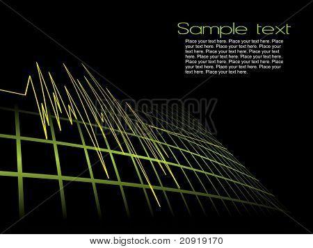 lifeline in an electrocardiogram, pattern