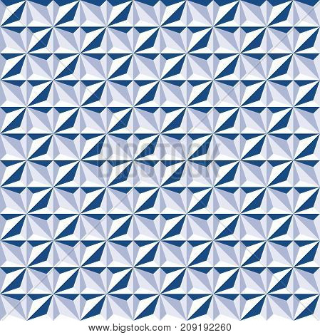 Seamless abstract geometric texture pattern background in tones of blue
