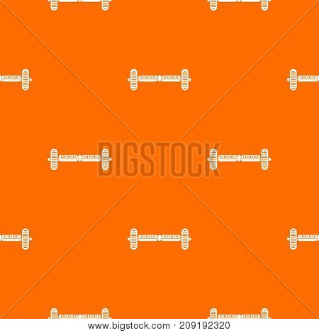 Hoverboard gyro pod pattern repeat seamless in orange color for any design. Vector geometric illustration