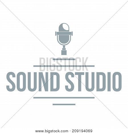 Stereo studio logo. Simple illustration of stereo studio vector logo for web