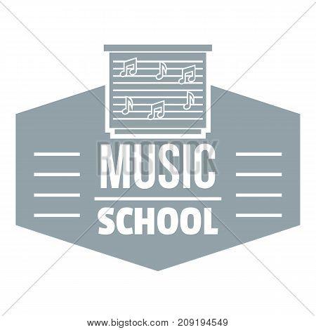 Music school logo. Simple illustration of music school vector logo for web