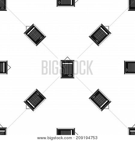 Sertificate pattern repeat seamless in black color for any design. Vector geometric illustration