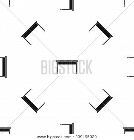 Desk pattern repeat seamless in black color for any design. Vector geometric illustration
