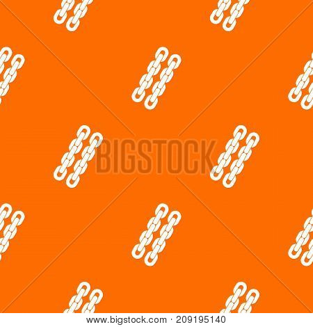 Chains pattern repeat seamless in orange color for any design. Vector geometric illustration