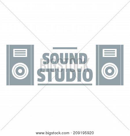 Record sound studio logo. Simple illustration of record sound studio vector logo for web
