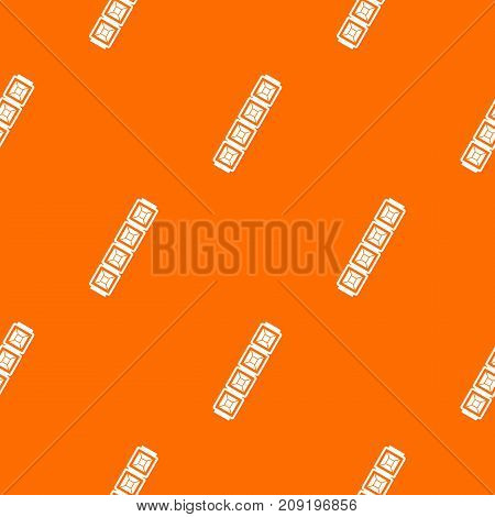 Jewelry chain pattern repeat seamless in orange color for any design. Vector geometric illustration