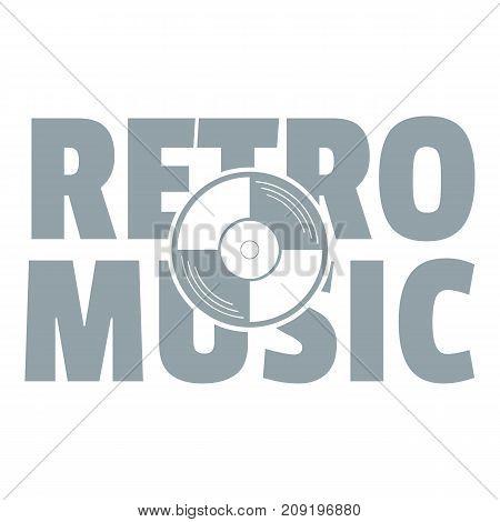 Festival retro music logo. Simple illustration of festival retro music vector logo for web