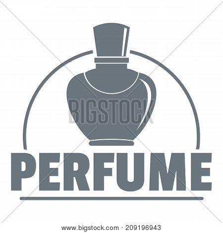 Perfumery logo. Vintage illustration of perfumery vector logo for web
