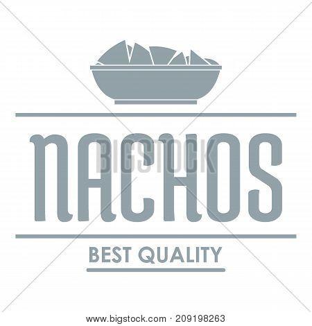 Nachos logo. Simple illustration of nachos vector logo for web