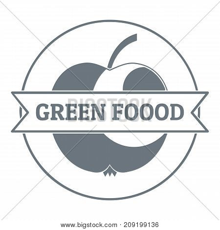 Healthy meal logo. Vintage illustration of healthy meal vector logo for web