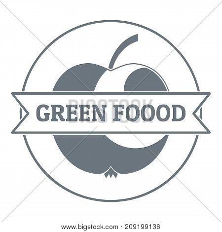 Healthy meal logo. Vintage illustration of healthy meal vector logo for web