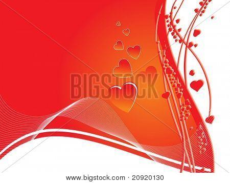 vector red valentine illustration