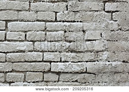 Old, bare brick wall texture