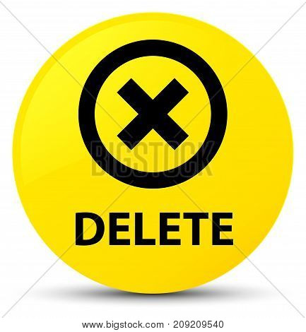 Delete Yellow Round Button