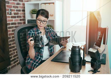 Elegant Beauty Female Business Photo Designer