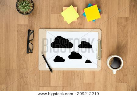 Cloud Computing Diagram Network Data Storage Technology Service