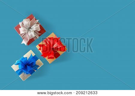 Gift Box Christmas Happy Holiday Greeting Card Anniversary  Christmas, New Year, Valentine Day