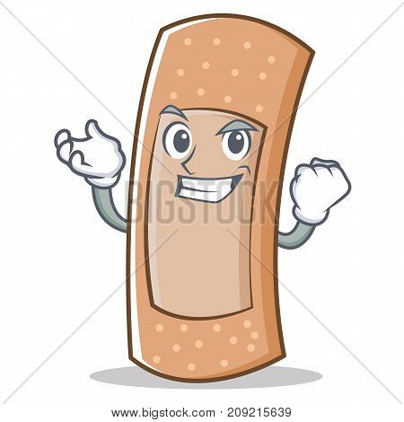 Successful band aid character cartoon vector illustration