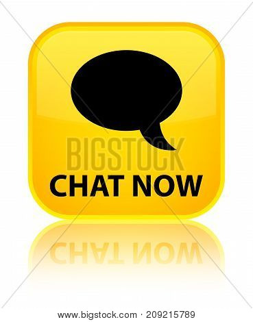 Chat Now Special Yellow Square Button