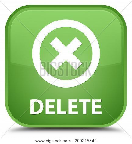 Delete Special Soft Green Square Button