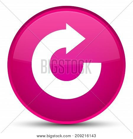 Reply Arrow Icon Special Pink Round Button