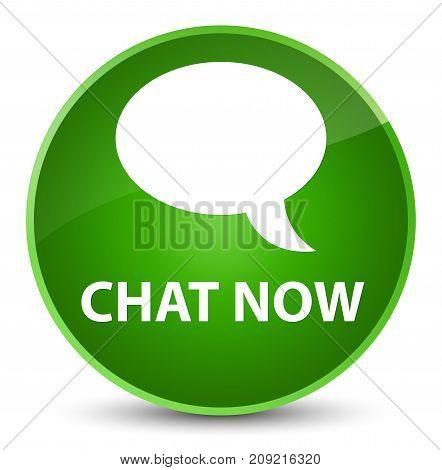 Chat Now Elegant Green Round Button