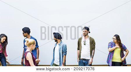 Diverse friends / students shoot