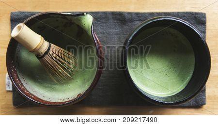 Traditional Japanese Matcha green tea