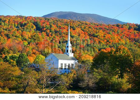 Iconic church in Stowe Vermont