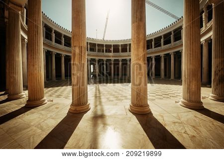 ATHENS - SEP 26: Closeup view of Zappeion Hall on September 26, 2016 in Athens, Greece. It is generally used for both official and private meetings and ceremonies.