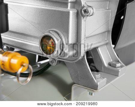 Air Compressor on white background - compressor oil dipstick