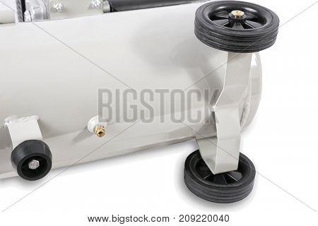 Air Compressor on white background - compressor drain valve