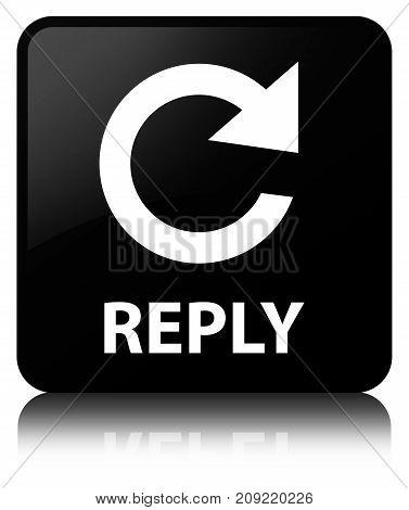 Reply (rotate Arrow Icon) Black Square Button