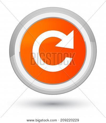 Reply Rotate Icon Prime Orange Round Button