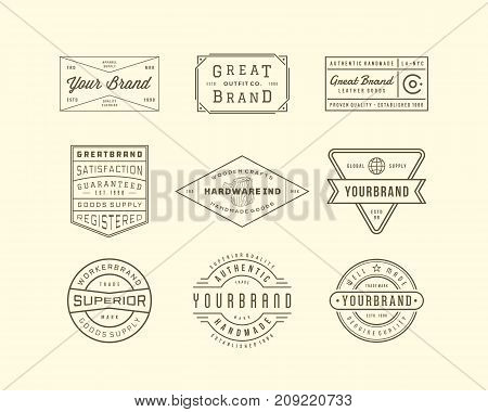 Vintage Logo, Insignia and Badges 3. perfect for identity, logo, insignia or badge design with retro vintage looks. it is also good for print design such clothing line, merchandise etc.