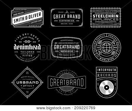 Vintage Logo, Insignia and Badges 4. perfect for identity, logo, insignia or badge design with retro vintage looks. it is also good for print design such clothing line, merchandise etc.