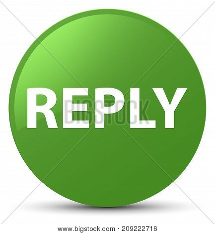 Reply Soft Green Round Button