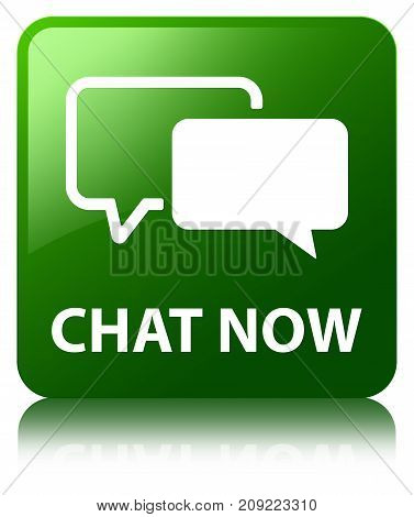 Chat Now Green Square Button