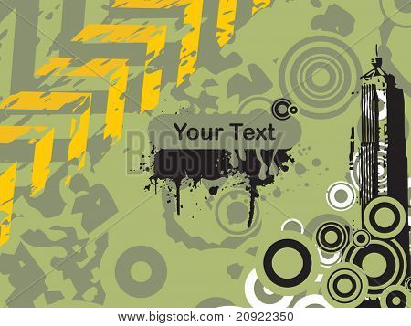 abstract illustration dirty background with road sign vector